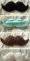 Everyday Mustache Plushes by P-isfor-Plushes