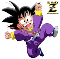 Kid Goku (Ninja Clothes) by el-maky-z