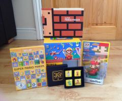 Super Mario Maker Collection with Amiibo by extraphotos