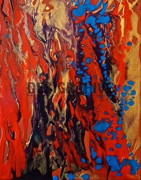 Bloodstream - An Original Abstract Painting by RazzoClimhazzard