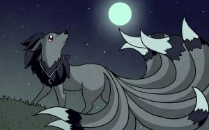 Commission - Under the moon by LVStarlitSky