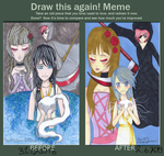 Meme: Before And After (5 months difference) by Loriblackangelsnow