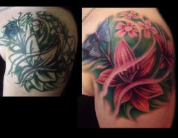 Flower collage cover up by hatefulss