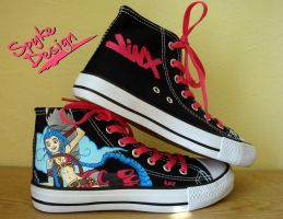 Jinx handpainted shoes by spyke-design