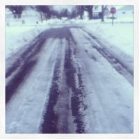 Icy Roads by GlimmerofHopeImages