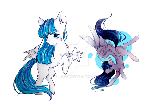 [Commission] Winter Breeze- Chibi and Fullbody by Demisky