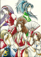 KOF Girls by KN-KL