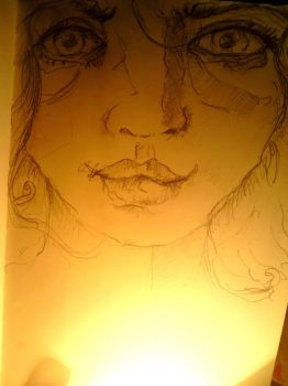 Light doodle face by VANESSIA