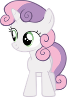 Sweetie Belle Vector #1 by EbonTopaz