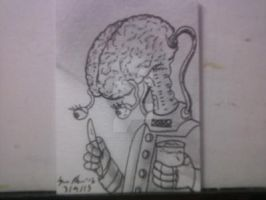 MAD SCIENCE SKETCH CARD by shawncomicart