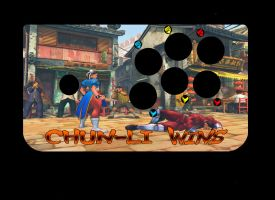Hori EX2 Chun-li Wins Decal by ThornBlackstar