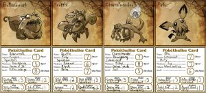 Pokethulhu Starters by chief-orc