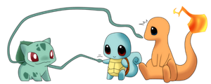 Pokemon - Kanto Starters by haydee