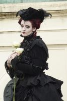Stock - Lady baroque with roses gothic woman by S-T-A-R-gazer