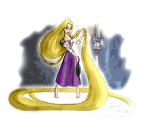 Tangled - Rapunzel by Honey-Lady-Bee