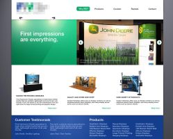 Tradeshow Sign Website Concept by Jeffufu