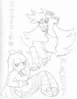 W.I.P - Panty and Stocking by Lord-Ackbar
