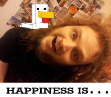 Happiness Is...Minecraft by Meeoko