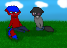 Foxclaw and Asha be chillin' by breebree223