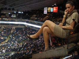 Giantess in Oracle Arena by lowerrider
