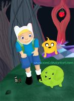-Adventure time, Tree Trunks- by Sarel
