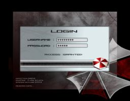 Resident Evil - Login screen by Rukkancs
