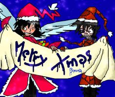 Merry Xmas from Mysil and Siny by byona