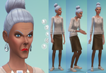 Mrs. Crumplebottom Sims 4 by AliceSacco
