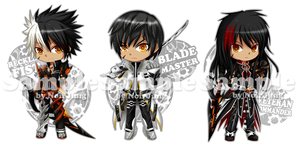 Elsword Key-ring Project: Raven all class by noirjung