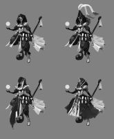 Mage Character Concept - Iterations by jeffchendesigns