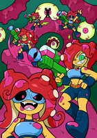 Turf War Zine Team Octoling by Shenaniganza