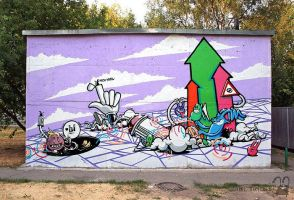 crazy planet  '2010 by krolone