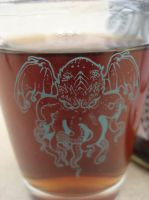 Cthulhu shot glass close by missmonster