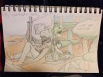 Fallout/Elsword: 2 worlds  by sketchingchaos