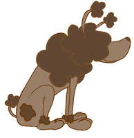 Chocolate Poodle by creecreehoneybees