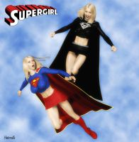 Supergirl vs Evil Supergirl by hotrod5