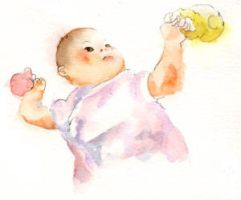 Watercolor: My baby III by muttiy