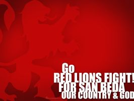 GO RED LIONS WALLPAPER by beetleboy