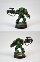 Dark Angel Space Marines Veteran Sergeant by razzminis