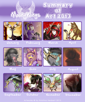 -Summary of Art 2013- by MoonyWings