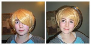 England wig: Before and After by black-feather1013