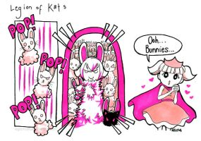 Legion of Kats - Bunnies! by tea-bug