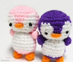 2 Penguins Amigurumi by adorablykawaii