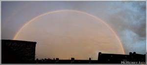 Rainbow panorama over Essen by mchenry