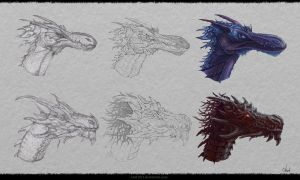 Dragon`s Design #4 by Azot2014