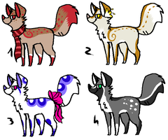 CLOSED - Foxes Adoptables 309 by LeaAdoptables