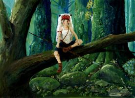 San - Princess Mononoke by Vinkerlid