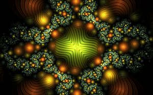 greenorange metallic pattern by Andrea1981G