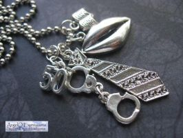 50 Shades of Grey Charm Necklace by SpellsNSpooks