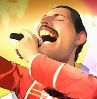 Freddie Mercury by bbmbbf